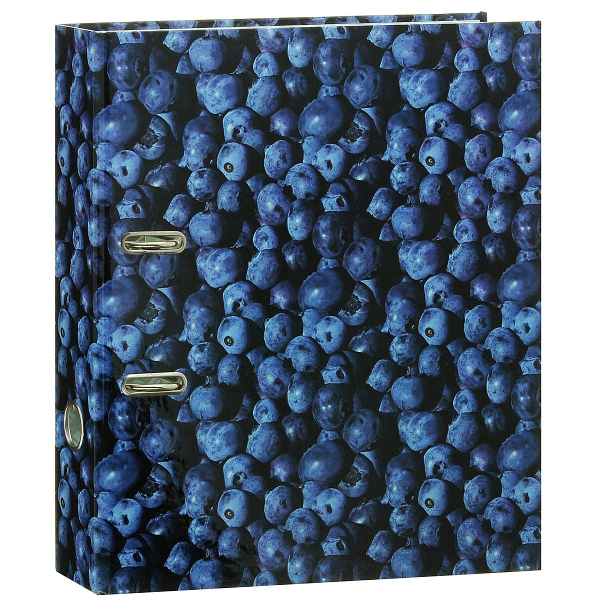 Папка-регистратор Index Черника, ширина корешка 80 мм, цвет: синийC13S041944Папка-регистратор Index Черника незаменима для работы с большими объемами бумаг дома и в офисе. Папка изготовлена из износостойкого высококачественного картона толщиной 2 мм, имеет ламинацию как снаружи, так и внутри. Папка оснащена прочным металлическим арочным механизмом, обеспечивающим надежную фиксацию перфорированных бумаг и документов формата А4. Для папки используется фурнитура только европейского производства. На торце папки расположено металлическое кольцо для удобства использования. Обложка папки оформлена красочным изображением сочных ягод черники.Папка-регистратор станет вашим надежным помощником, она упростит работу с бумагами и документами и защитит их от повреждения, пыли и влаги.