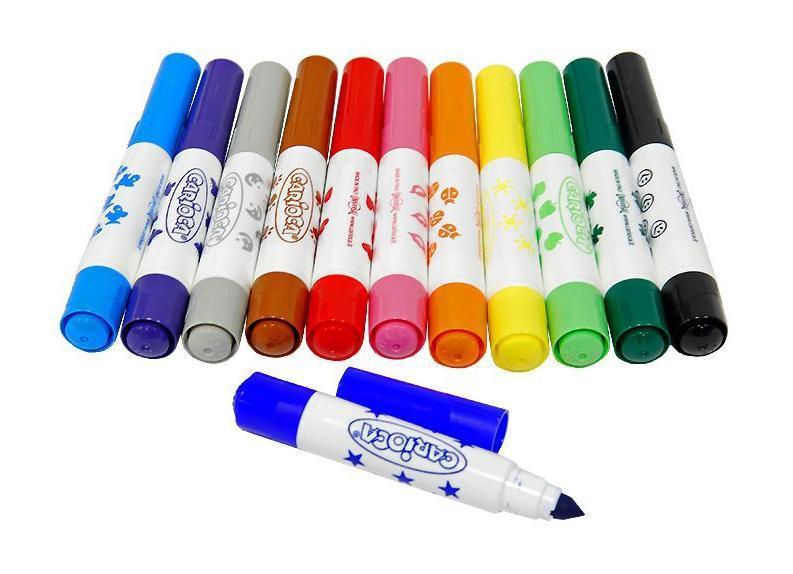 Характеристики: Материал: пластик, бумага. Длина фломастера: 11 см. Диаметр штампа: 0,9 см. Размер упаковки : 20 см х 15,5 см х 2 см.