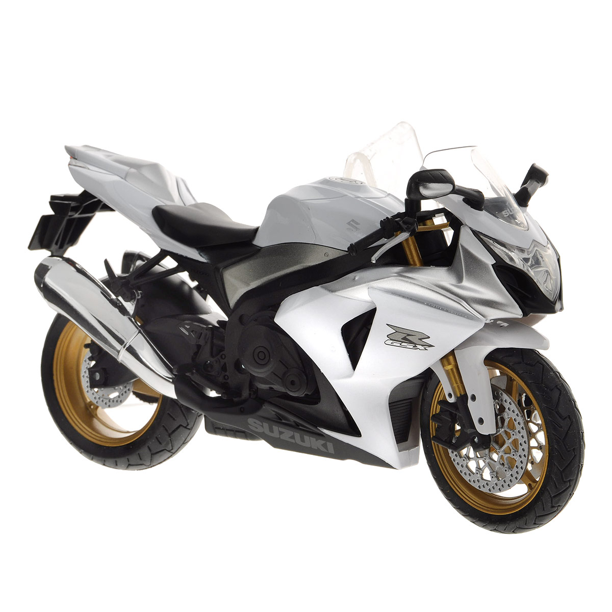 """Коллекционная модель Autotime """"Мотоцикл Suzuki GSX-R1000"""" представляет собой точную копию мотоцикла Suzuki GSX-R1000. Модель имеет металлический корпус с элементами из пластика. Колеса и руль игрушки вращаются. Мотоциклы серии """"ELITE"""" - это детализация высшего уровня, проработка мельчайших деталей, отличная прокраска как мелких, так и крупных элементов. Большой масштаб (1:12), и высокотехнологичное оборудование, позволяют передать все тонкости и нюансы настоящего мотоцикла - тормозные диски, выхлопную систему, рабочий амортизатор с пружиной и многое другое. По уровню исполнения эти модели по праву называются """"элитными"""". Такая модель придется по вкусу как детям, так и взрослым коллекционерам. Великолепное качество исполнения сделает ее не только увлекательной игрушкой, но и достойной частью коллекции."""