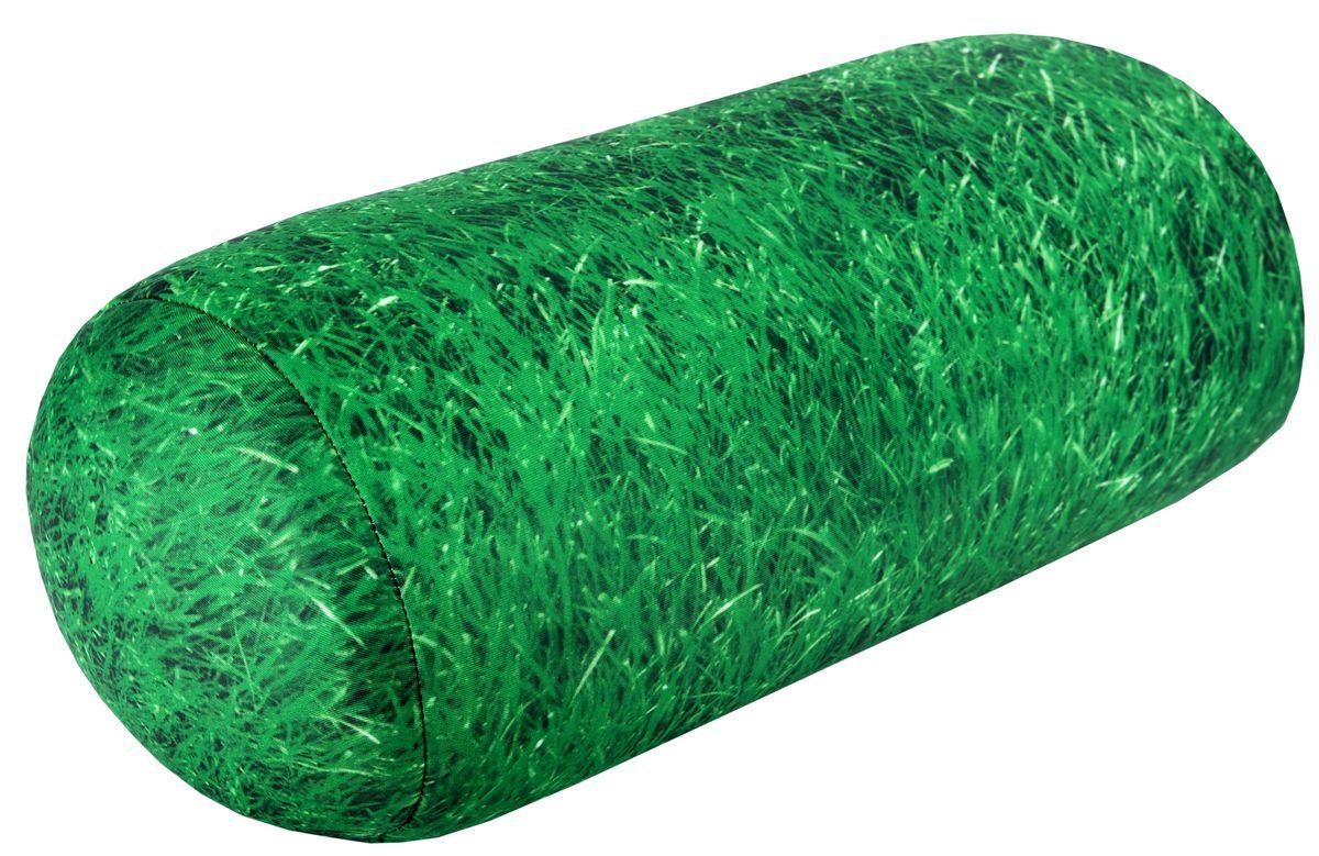 Подушка-антистресс Home Queen Газон, 16 х 30 см16059Подушка-антистресс Home Queen Газон, выполненная в форме валика, - это не только антистресс, но и оригинальный аксессуар для интерьера. Чехол из трикотажной ткани оформлен ярким рисунком зеленой травы. Внутри - антистрессовый полистироловый наполнитель. Подушка с мягкой пластичной структурой и ярким принтом станет прекрасным украшением интерьера детской или гостиной.Материал наволочки: трикотажная ткань (85% нейлон, 15% полиуретан). Наполнитель: 100% полистирол. Размер подушки: 16 см х 30 см.