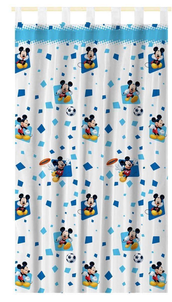 Штора интерьерная Disney Микки Маус, на петлях, полупрозрачная, высота 280 смSVC-300Штора Disney Микки Маус изготовлена из 100% полиэстера. Полупрозрачная вуалевая ткань и оригинальный цветной рисунок привлекут к себе внимание и органично впишутся в интерьер. Штора Микки Маус с изображением любимого героя украсит детскую комнату и непременно будет радовать вашего ребенка.Крепится на петлях. Рекомендации по уходу: стирать в ручном режиме без использования отбеливающих средств. Химчистка запрещена.