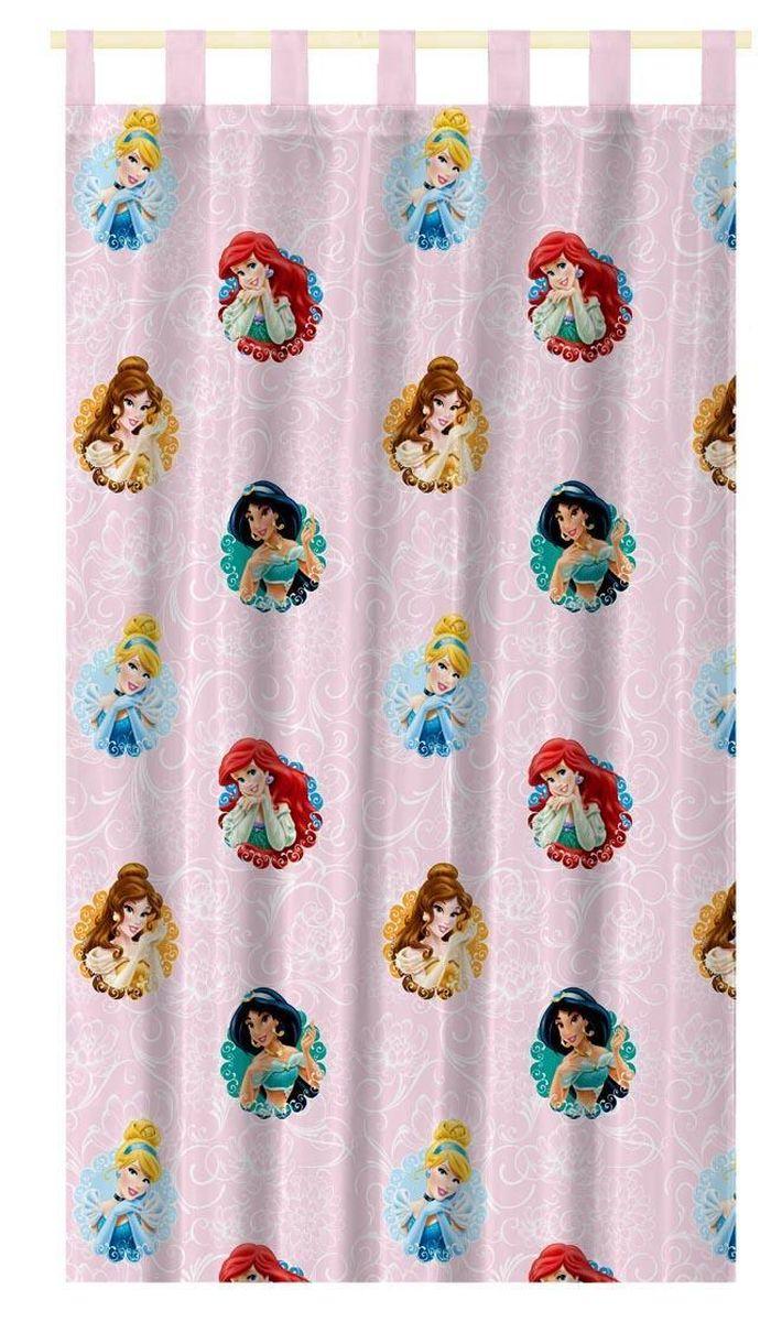 Штора интерьерная Disney Принцессы, на петлях, полупрозрачная, высота 280 смUN123300639Штора Disney Принцессы изготовлена из 100% полиэстера. Полупрозрачная вуалевая ткань и оригинальный цветной рисунок привлекут к себе внимание и органично впишутся в интерьер. Штора Принцессы с изображением любимыхгероев украсит детскую комнату и непременно будет радовать вашего ребенка.Крепится на петлях. Рекомендации по уходу: стирать в ручном режиме без использования отбеливающих средств. Химчистка запрещена.