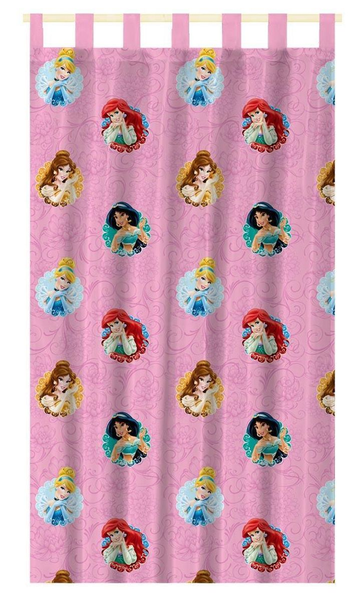 Штора интерьерная Disney Принцессы, на петлях, высота 280 смGC013/00Штора Disney Принцессы изготовлена из 100% полиэстера. Она удобна в эксплуатации и проста в уходе. Изделие не деформируется и не теряет яркость нанесенного рисунка. Штора интерьерная Disney Принцессы с изображением любимыхгероев украсит детскую комнату и непременно будет радовать вашего ребенка.Крепится на петлях. Рекомендации по уходу: стирать в ручном режиме без использования отбеливающих средств. Химчистка запрещена.