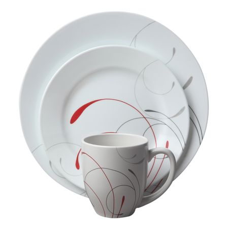 Набор посуды Splendor 16пр, цвет: белый с узором8469BHNEWПреимуществами посуды Corelle являются долговечность, красота и безопасность в использовании. Вся посуда Corelle изготавливается из высококачественного ударопрочного трехслойного стекла Vitrelle и украшена деколями американских и европейских дизайнеров. Рисунки не стираются и не царапаются, не теряют свою яркость на протяжении многих лет. Посуда Corelle не впитывает запахов и очень долгое время выглядит как новая. Уникальная эмаль, используемая во время декорирования, фактически становится единым целым с поверхностью стекла, что гарантирует долгое сохранение нанесенного рисунка. Еще одним из главных преимуществ посуды Corelle является ее безопасность. В производстве используются только безопасные для пищи пигменты эмали, при производстве посуды не применяется вредный для здоровья человека меламин. Изделия из материала Vitrelle: Прочные и легкие; Выдерживают температуру до 180С; Могут использоваться в посудомоечной машине и микроволновой печи; Штабелируемые; Устойчивы к царапинам; Ударопрочные; Не содержит меламин.4 обеденные тарелки 27 см; 4 закусочные тарелки 22 см; 4 суповые торелки 530 мл; 4 фарфоровые кружки 380 мл