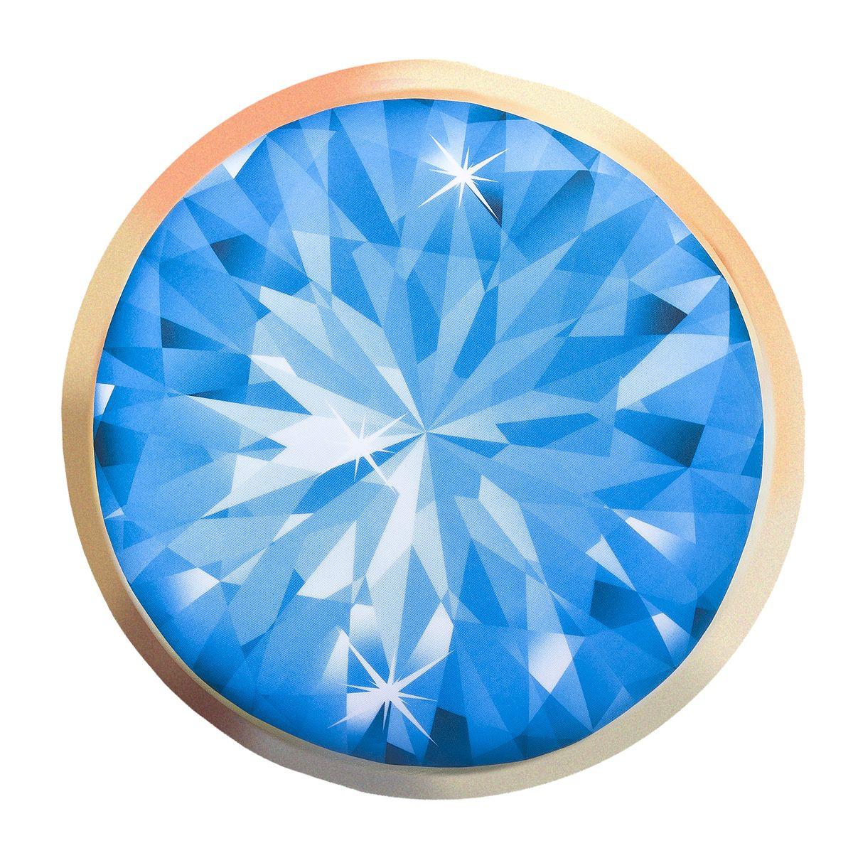 Подушка-антистресс Home Queen Диамант, круглая, цвет: голубой, 30 х 30 см66622Круглая подушка-антистресс Home Queen Диамант - это не только лучший способ снять напряжение, но и оригинальный аксессуар для интерьера. Изделие пластичное и приятное на ощупь. Чехол из трикотажной ткани (15% полиуретан, 85% нейлон) оформлен ярким изображением алмаза. Внутри - антистрессовый полистироловый наполнитель. Подушка-антистресс - идеальный рецепт хорошего настроения и здорового сна! Она подарит тактильную радость и станет аккумулятором хорошего настроения.