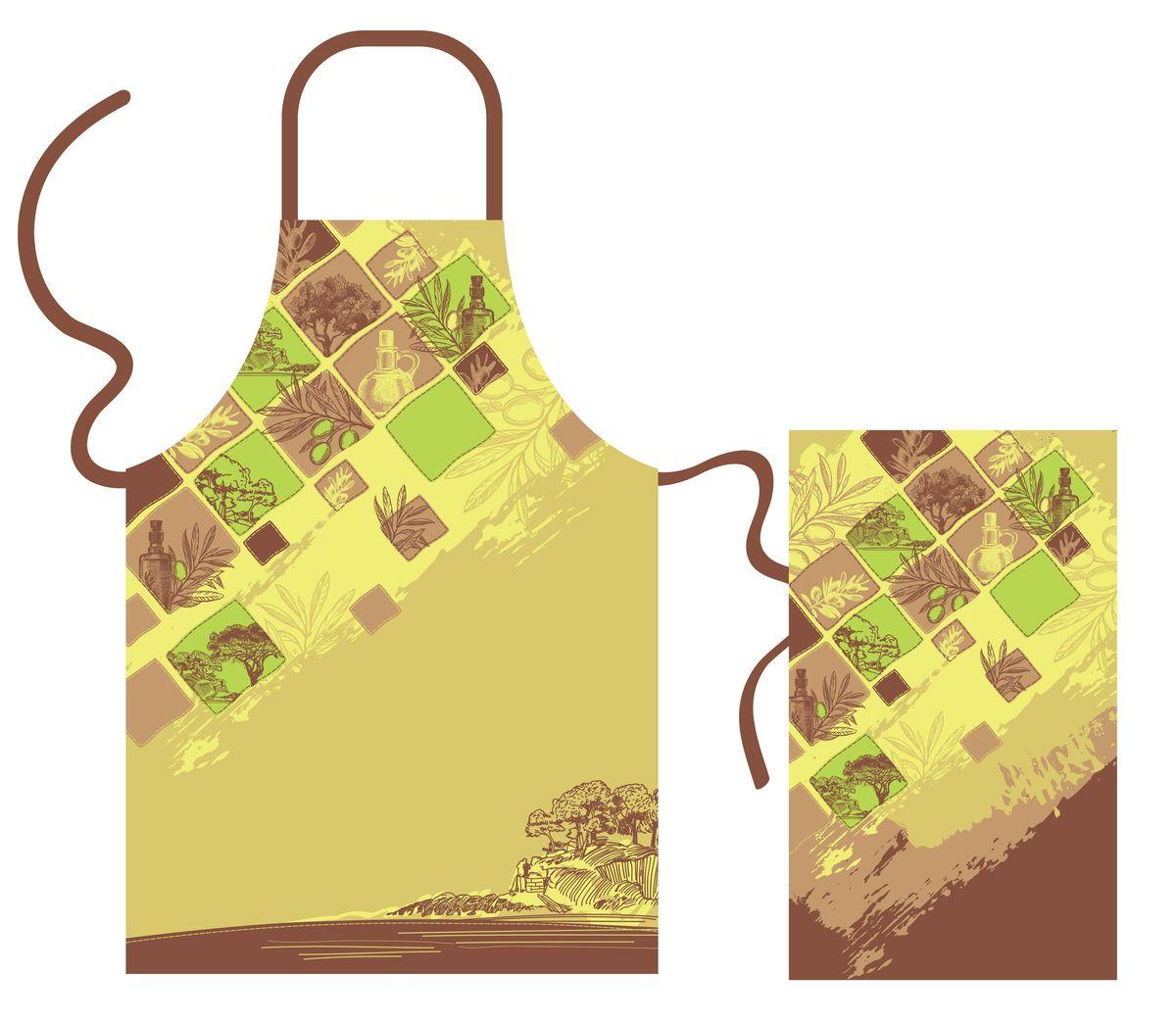 Набор кухонного текстиля Olive dreamВетерок 2ГФНабор кухонного текстиля выполнен из хлопка и украшен оригинальным принтом в оливковых и коричневых оттенках. 100% хлопок