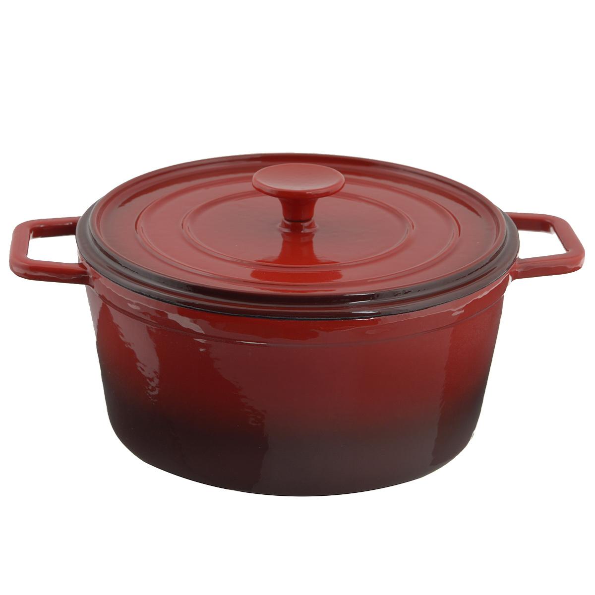 Кастрюля Mayer & Boch с крышкой, с эмалевым покрытием, 5 л54 009312Кастрюля Mayer & Boch, изготовленная из чугуна, идеально подходит для приготовления вкусных тушеных блюд. Она имеет внутреннее стекловидное эмалевое покрытие. Чугун является традиционным высокопрочным, экологически чистым материалом. Причем, чем дольше и чаще вы пользуетесь этой посудой, тем лучше становятся ее свойства. Высокая теплоемкость чугуна позволяет ему сильно нагреваться и медленно остывать, а это в свою очередь обеспечивает равномерное приготовление пищи. Чугун не вступает в какие-либо химические реакции с пищей в процессе приготовления и хранения, а плотное покрытие - безупречное препятствие для бактерий и запахов. Пища, приготовленная в чугунной посуде, благодаря экологической чистоте материала не может нанести вред здоровью человека. Кастрюля оснащена двумя удобными ручками. Крышка изготовлена из чугуна. Она плотно прилегает к краю казана, сохраняя аромат блюд. Можно использовать в духовом шкафу. Нельзя мыть в посудомоечной машине. Высота стенки: 12 см. Толщина стенки: 5 мм. Толщина дна: 6 мм. Ширина кастрюли (с учетом ручек): 34 см.