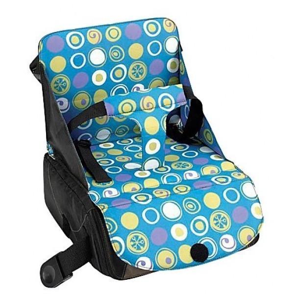 """Дорожный детский стульчик """"Munchkin"""" - незаменимая вещь в дороге или в гостях, если вы решили покормить   малыша, а под рукой нет детского стульчика. Это компактный стульчик для кормления, предназначенный для   детей весом до 15 кг, подходит для любого обычного стула со спинкой и легко трансформируется в дорожную   сумочку. Детский стульчик легко крепится к стулу при помощи текстильных ремней, регулируемых по длине и   защелкивающихся на карабины. Стульчик регулируется по высоте с помощью ножек. Под сиденьем расположен   внутренний вместительный карман, в котором можно хранить детские столовые принадлежности, салфетки или   другие необходимые вещи.Кредо Munchkin, американской компании с 20-летней историей: избавить мир от   надоевших и прозаических товаров, искать умные инновационные решения, которые превращает обыденные   задачи в опыт, приносящий удовольствие. Понимая, что наибольшее значение в быту имеют именно мелочи,   компания создает уникальные товары, которые помогают поддерживать порядок, организовывать пространство,   облегчают уход за детьми - недаром компания имеет уже более 140 патентов и изобретений, используемых в   создании ее неповторимой и оригинальной продукции. Munchkin делает жизнь родителей легче!   Характеристики:Материал: текстиль, пластик, металл. Размер стульчика: 29 см х 37 см х 28 см. Размер сумки: 29 см х 28 см х 14 см."""