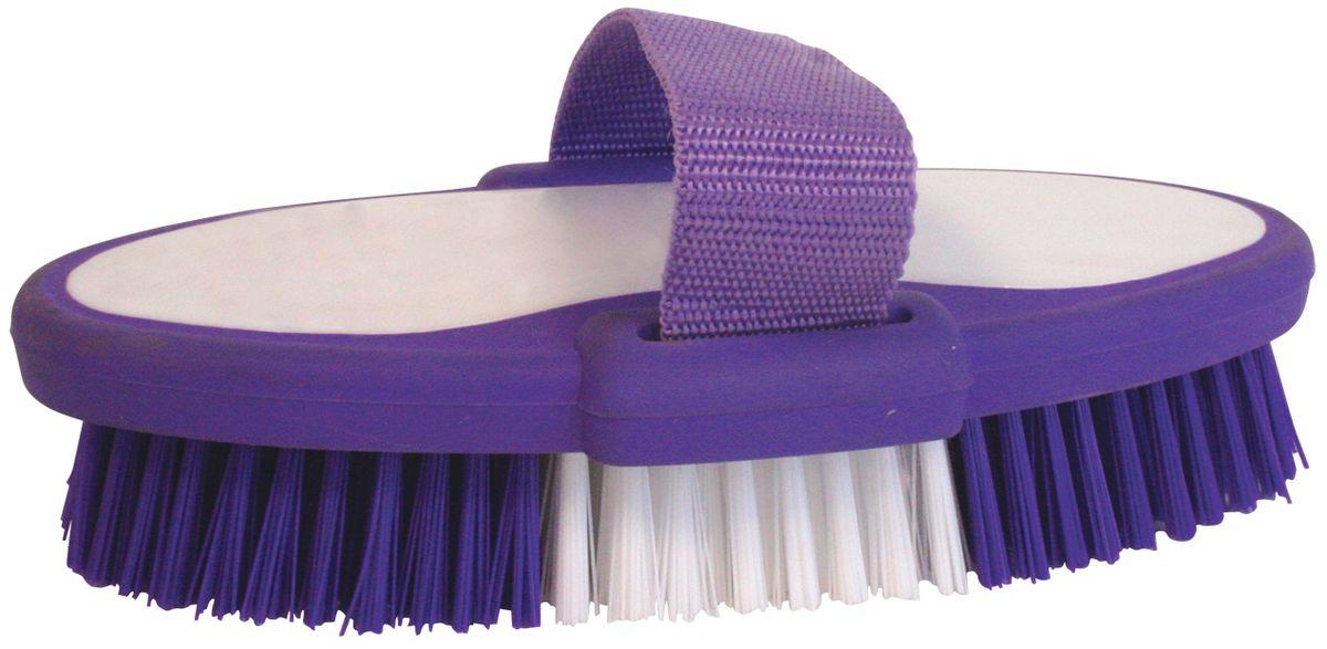 Еврощетка Home Queen, с ремешком, цвет: белый, фиолетовый свеча декоративная home queen пирожное 5 5 см х 5 см х 2 см 2 шт