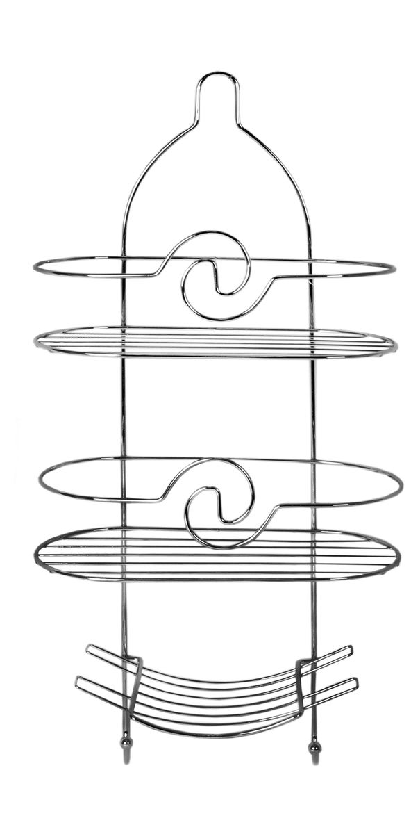 Полка овальная Fresh Code Волна, 3 яруса, 25 х 55 х 11 см391602Удобная компактная полка Fresh Code Волна не требует специального монтажа, ее можно повесить на крючок или штангу в ванной. Универсальный дизайн подойдет для любого интерьера ванной комнаты. Высота больших полок (2 шт): 16 см. Высота маленькой полки: 11 см.