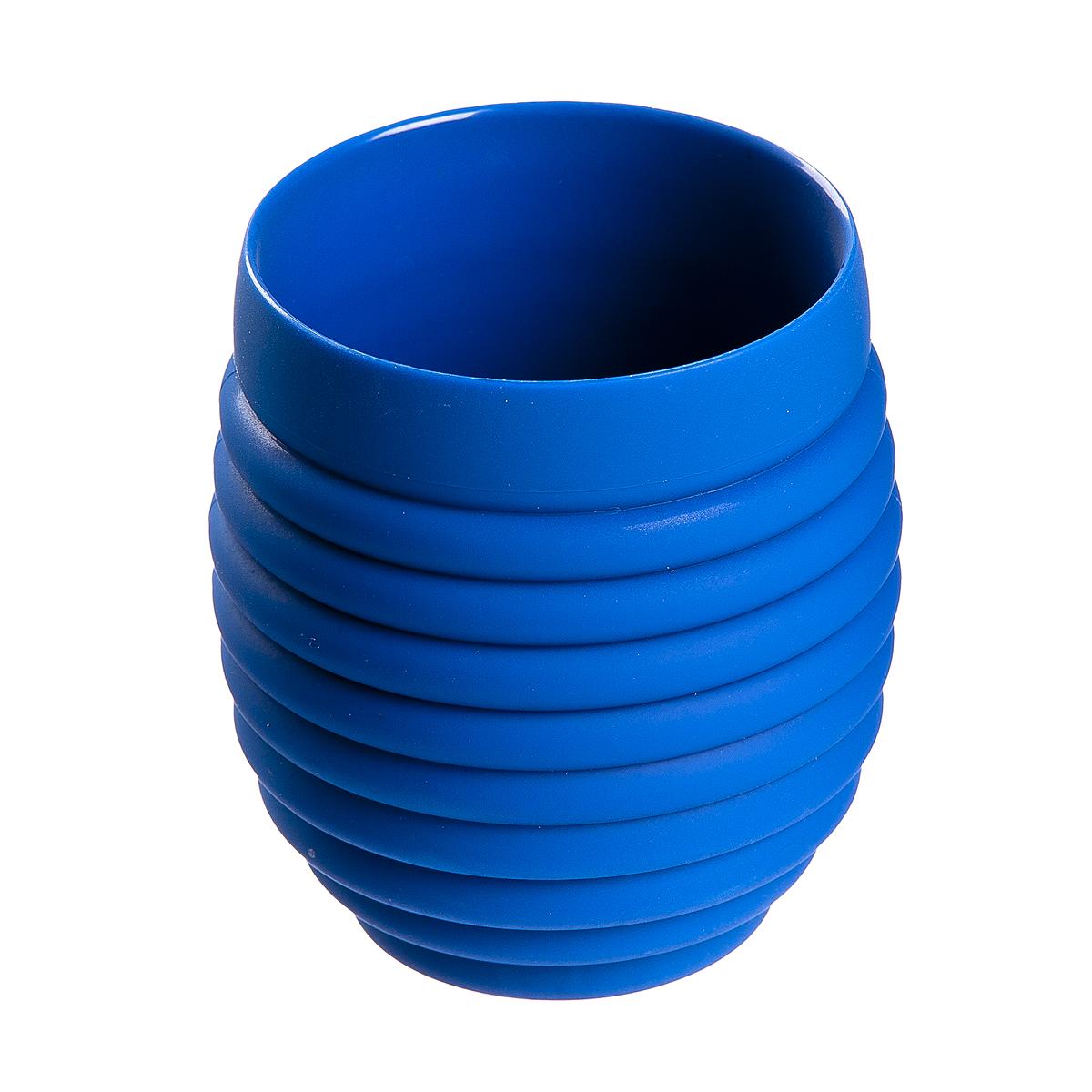 Стакан для ванной Fresh Code Волна, цвет: синий, 350 мл стакан для ванной fresh code бамбук цвет салатовый 500 мл