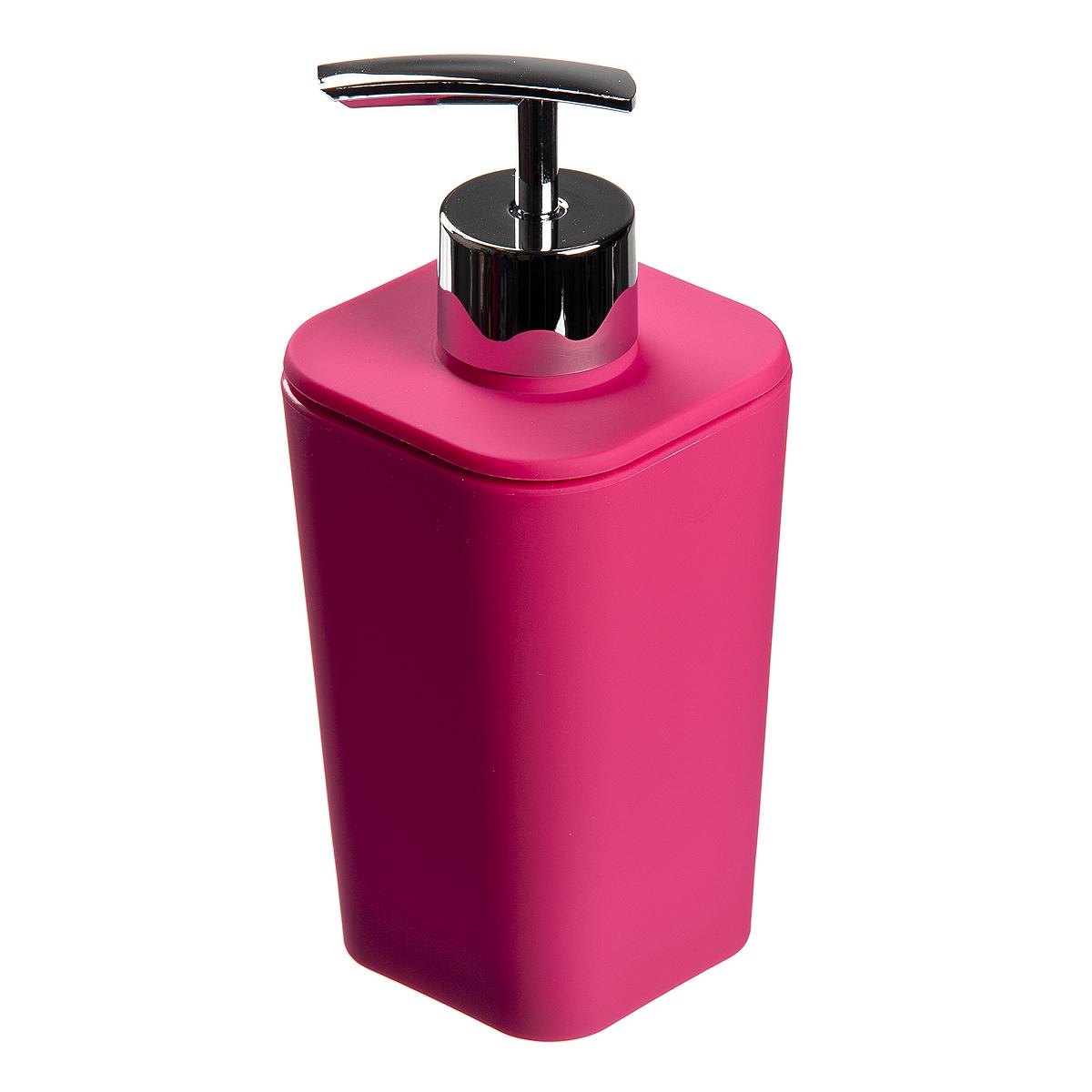 Диспенсер для жидкого мыла Fresh Code Геометрия, цвет: розовый, 350 мл