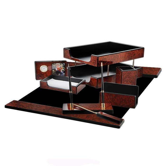 """Набор настольный """"GS Artek"""", 8 предметов, цвет: темное дерево. 8FB-1A (883), Good Sunrise Co., Ltd."""
