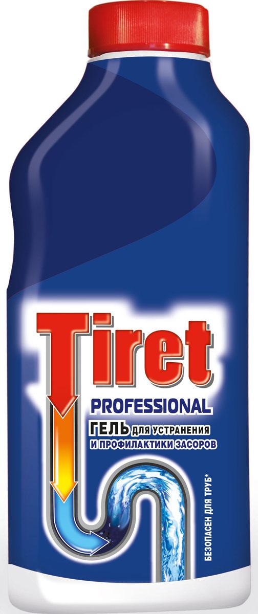 Гель для удаления засоров Tiret professional, 500 мл391602Гель Тiret professional предназначен для чистки труб. Гель эффективно устраняет очень сильные засоры лучше, чем традиционные методы и средства. Густая структура геля позволяет продукту проникать глубоко в трубу даже при наличии воды в раковине. Убивает бактерии и устраняет неприятный запах.Характеристики: Объем: 500 мл.Товар сертифицирован.