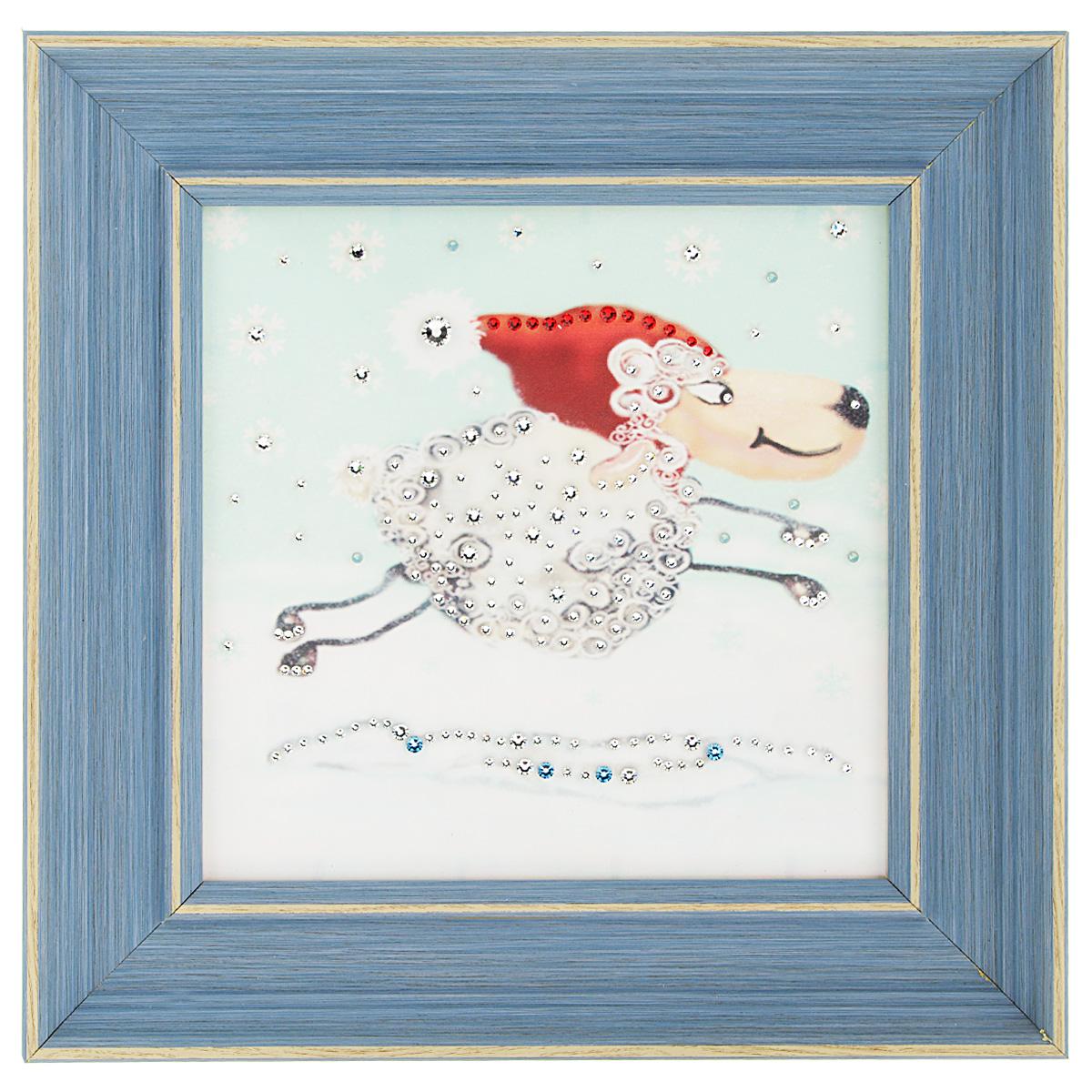Картина с кристаллами Swarovski Праздник к нам приходит, 29 х 29 см картины в квартиру картина etude 2 102х130 см