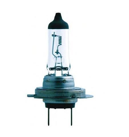 Лампа автомобильная галогенная Philips MasterDuty BlueVision, для грузовиков, цоколь H7 (PX26d), 24V, 70W10503Галогенная лампа для автомобильных фар Philips MasterDuty BlueVision произведена из запатентованного кварцевого стекла с УФ фильтром Philips Quartz Glass. Кварцевое стекло Philips в отличие от обычного твердого стекла выдерживает гораздо большее давление смеси газов внутри колбы, что препятствует быстрому испарению вольфрама с нити накаливания. Кварцевое стекло выдерживает большой перепад температур, при попадании влаги на работающую лампу изделие не взрывается и продолжает работать. Лампы MasterDuty BlueVision обладают прочностью и вибростойкостью, а также создают эффект ксенонового света. Вибростойкость этих ламп в два раза выше, чем у обычных ламп. Мощный белый свет с голубым оттенком позволяет увеличить безопасность на дороге.Автомобильные галогенные лампы Philips удовлетворят все нужды автомобилистов: дальний свет, ближний свет, передние противотуманные фары, передние и боковые указатели поворота, задние указатели поворота, стоп-сигналы, фонари заднего хода, задние противотуманные фонари, освещение номерного знака, задние габаритные/стояночные фонари, освещение салона.