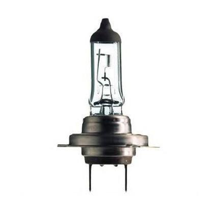 Лампа автомобильная галогенная Philips Vision, для фар, цоколь H7 (PX26d), 12V, 55W2706 (ПО)Автомобильная галогенная лампа Philips Vision произведена из запатентованного кварцевого стекла с УФ фильтром Philips Quartz Glass. Кварцевое стекло Philips в отличие от обычного твердого стекла выдерживает гораздо большее давление смеси газов внутри колбы, что препятствует быстрому испарению вольфрама с нити накаливания. Кварцевое стекло выдерживает большой перепад температур, при попадании влаги на работающую лампу изделие не взрывается и продолжает работать. Лампы Philips Vision дают на 30% больше света по сравнению со стандартными лампами. Они создают превосходный световой поток, отличаются приемлемой ценой и соответствуют стандартам качества для оригинального оборудования. Благодаря улучшенному распределению света лампы Philips Vision способны освещать дорогу на большем расстоянии, повышая безопасность и комфорт вождения. Автомобильные галогенные лампы Philips удовлетворят все нужды автомобилистов: дальний свет, ближний свет, передние противотуманные фары, передние и боковые указатели поворота, задние указатели поворота, стоп-сигналы, фонари заднего хода, задние противотуманные фонари, освещение номерного знака, задние габаритные/стояночные фонари, освещение салона.