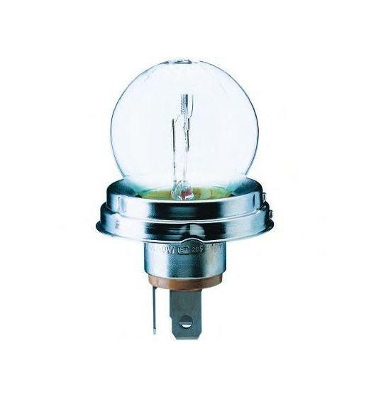 Автомобильная лампа накаливания R2 24V-55/50W (P45t) 13620C11.645-370.0Лампа накаливания Philips R2 24V- 55/50W (P45t). 13620C1 предназначена для ближнего и дальнего света фар.Уже в течение 100 лет компания Philips остается в авангарде автомобильного освещения, внедряя технологические инновации, которые впоследствии становятся стандартом для всей отрасли. Сегодня каждый второй автомобиль в Европе и каждый третий в мире оснащены световым оборудованием Philips.Напряжение: 24 вольт.