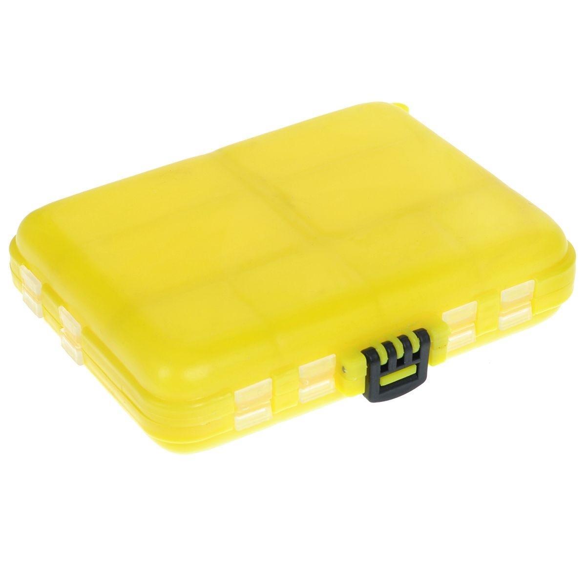 Органайзер для мелочей, двухсторонний, цвет: желтый, 12 х 10 х 3 см4271825Удобная пластиковая коробка Три китапрекрасно подойдет для хранения и транспортировки различных мелочей. Коробка имеет 16 фиксированных отделений. Удобный и надежный замок-защелка обеспечивает надежное закрывание коробки. Такая коробка поможет держать вещи в порядке.