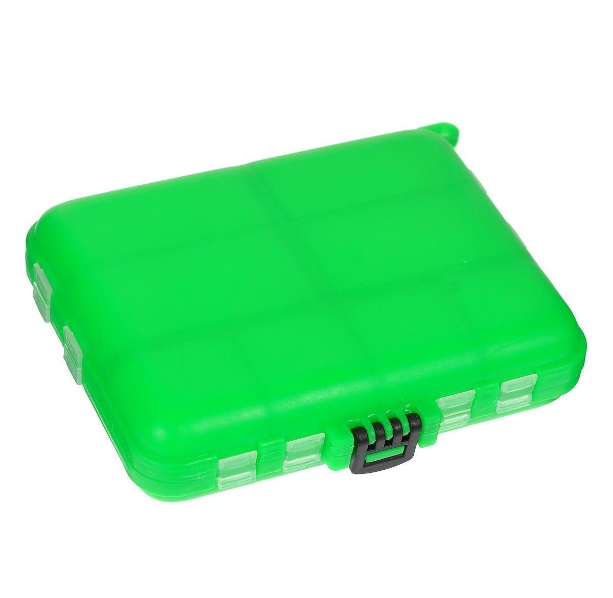Органайзер для мелочей,, двухсторонний, цвет: зеленый 12 х 10 х 2,5 см8652Удобная пластиковая коробка Три китапрекрасно подойдет для хранения и транспортировки различных мелочей. Коробка имеет 16 фиксированных отделений. Удобный и надежный замок-защелка обеспечивает надежное закрывание коробки. Такая коробка поможет держать вещи в порядке.