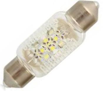 Лампа автомобильная Narva Fest T10,5 12V- 0,35W (SV8,5-38/11) LED 6000K (2шт.) 18010K100Лампа автомобильная Fest T10,5 12V- 0,35W (SV8,5-38/11) LED 6000K (блистер 2шт.) (Narva). 18010 (бл.2) - обладают ярким эффектным светом и компактными размерами. У лампы есть большой запас срока службы. Способна выдержать большое количество включений и выключений.Напряжение: 12 вольт