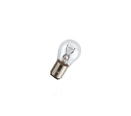 Лампа автомобильная галогенная сигнальная Philips LongLife EcoVision, цоколь P21/5W (BAY15d), 12V, 21/5W, 2 штRC-100BWCАвтомобильная галогенная сигнальная лампа Philips LongLife EcoVision изготовлена из кварцевого стекла, устойчивого к УФ-излучению. Такое стекло обладает более высокой прочностью (по сравнению с тугоплавким стеклом) и отличается высокой устойчивостью к перепадам температур и вибрации. Например, при попадании влаги на работающую лампу изделие не взрывается и продолжает работать. Лампы выдерживают высокое внутреннее давление, поэтому такое кварцевое стекло обеспечивает более мощный свет. Срок службы лампы Philips LongLife EcoVision в 4 раза больше, чем у стандартной лампы, поэтому ее выбирают водители, которые хотят сократить затраты на техническое обслуживание своих автомобилей. С лампами LongLife EcoVision водителям не нужно беспокоиться о замене ламп для головного освещения на протяжении 100 000 км. Автомобильные галогенные лампы Philips удовлетворят все нужды автомобилистов: дальний свет, ближний свет, передние противотуманные фары, передние и боковые указатели поворота, задние указатели поворота, стоп-сигналы, фонари заднего хода, задние противотуманные фонари, освещение номерного знака, задние габаритные/стояночные фонари, освещение салона.