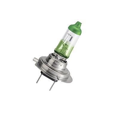 Лампа автомобильная галогенная Philips ColorVision Green, для фар, цоколь H7 (PX26d), 12V, 55W, 2 шт12972CVPGS2Галогенная лампа для автомобильных фар Philips ColorVision произведена из запатентованного кварцевого стекла с УФ фильтром Philips Quartz Glass. Кварцевое стекло Philips в отличие от обычного твердого стекла выдерживает гораздо большее давление смеси газов внутри колбы, что препятствует быстрому испарению вольфрама с нити накаливания. Кварцевое стекло выдерживает большой перепад температур, при попадании влаги на работающую лампу изделие не взрывается и продолжает работать. Лампа ColorVision придает автомобильной фаре зеленый оттенок, при этом она излучает яркий белый свет. Лампа отражает свет, направляя его через оптические элементы, и создает интересные цветные эффекты. Такие лампы обеспечивают на 60% больше света и увеличивают видимость до 25 метров (по сравнению с обычными лампами). Эти инновационные цветные автомобильные лампы сертифицированы для использования на дорогах. Они соответствуют европейским стандартам и обеспечивают прекрасное освещение, излучая безопасный белый свет. Автомобильные галогенные лампы Philips удовлетворят все нужды автомобилистов: дальний свет, ближний свет, передние противотуманные фары, передние и боковые указатели поворота, задние указатели поворота, стоп-сигналы, фонари заднего хода, задние противотуманные фонари, освещение номерного знака, задние габаритные/стояночные фонари, освещение салона.