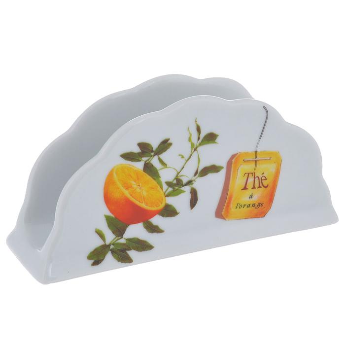 Салфетница Larange Апельсин. 586-280115010Салфетница Апельсин выполнена из высококачественного фарфора и украшена изображением апельсинов. Салфетница идеально подойдет для украшения стола и станет отличным подарком к любому празднику. Элегантный дизайн салфетницы придется по вкусу и ценителям классики, и тем, кто предпочитает утонченность и изысканность. Не использовать в микроволновой печи. Не применять абразивные чистящие вещества. Размер салфетницы: 14 см х 4 см х 6,8 см.