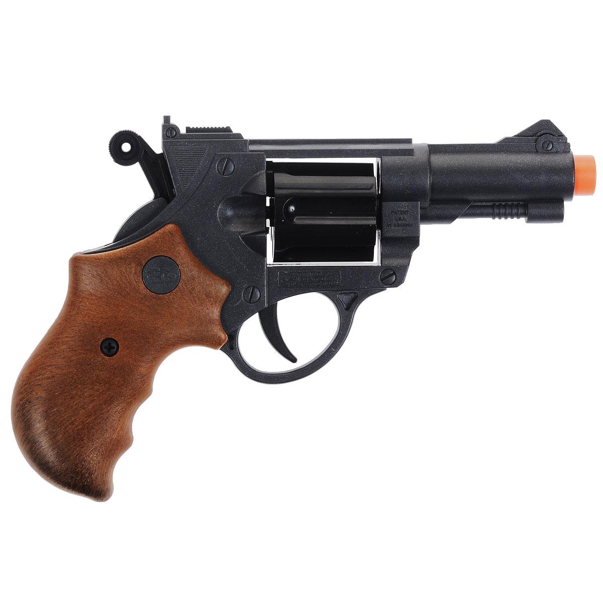 """Пистолет """"Jeff Watson"""" - Стильный игрушечный 6-зарядный пистолет, мечта любого мальчишки! Пистолет выполнен из пластика. Емкость магазина - 6 пулек. В комплект с пистолетом входят 10 пулек Итальянская компания Edison Giocattoli производит лучшие детские пистолеты и мишени для активных игр для мальчиков."""