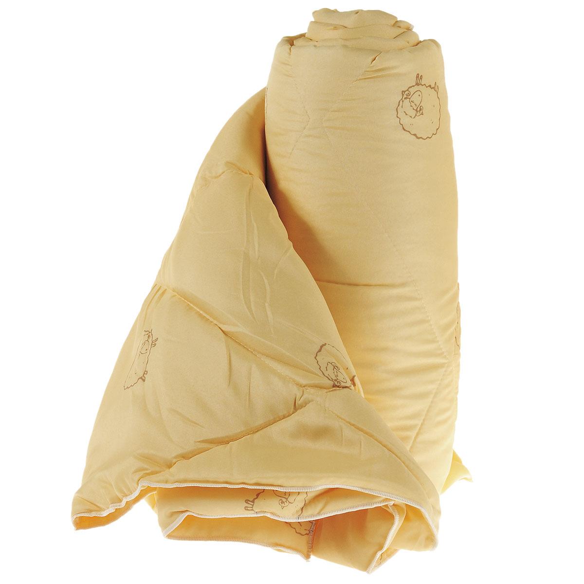 Одеяло Sleeper Находка, легкое, наполнитель: овечья шерсть, цвет: желтый, 140 x 200 см22(33)323Легкое одеяло Sleeper Находка с наполнителем - овечьей шерстью, со стежкой, не оставит равнодушными тех, кто ценит здоровье и красоту. Изысканный цвет чехла отвечает современным европейским тенденциям, а наполнитель из овечьей шерсти придает изделию мягкость, упругость и повышенные теплозащитные свойства.Ткань чехла изготовлена из микрофибры - мягкого, приятного на ощупь материала.Материал чехла: микрофибра (100% полиэстер). Материал наполнителя: овечья шерсть. Масса наполнителя: 200 г/м2.