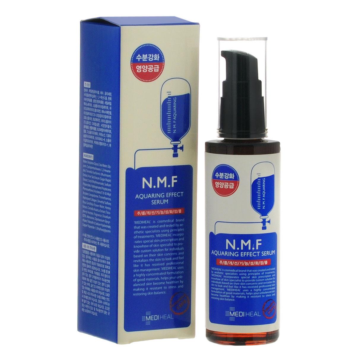 Beauty Clinic Сыворотка для лица Aquaring Effect, с N.M.F., увлажняющая, 50 млFTR22745Сыворотка содержит N.M.F. и другие активные увлажняющие и подтягивающие компоненты, такие как глубинная морская вода, гиалуроновая кислота, экстракты древесного гриба, сахарного клена, меда, центеллы азиатской. Интенсивно увлажняет, подтягивает и питает кожу, придает ей свежий вид. Способствует разглаживанию морщин.NMF (натуральный увлажняющий фактор) - это сложный комплекс молекул в роговом слое кожи, который способен притягивать и удерживать влагу, обеспечивать упругость и плотность рогового слоя кожи. В состав NMF входят низкомолекулярные пептиды, карбамид, пирролидонкарбоновая кислота, аминокислоты и т. д. При недостаточности увлажняющего фактора происходит обезвоживание эпидермиса. Глубинная морская вода содержит большое количество питательных веществ и 70 видов минералов, которые активно увлажняют кожу, придают ей здоровый вид, делают цвет кожи более естественным, выравнивают тон кожи. Экстракт клена сахарного ускоряет процесс обновления клеток, устраняет омертвевшие клетки эпидермиса и делает кожу более гладкой и свежей. Товар сертифицирован.