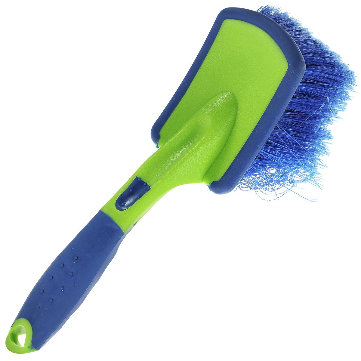 Щетка для мытья автомобиля Sapfire, цвет: синий, салатовый, 24,5 см щетка для мытья автомобиля stels 55223