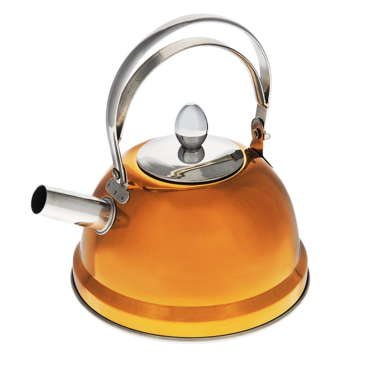 Чайник заварочный Bekker De Luxe, с ситечком, цвет: оранжевый 0,8 л. BK-S430115510Чайник Bekker De Luxe выполнен из высококачественной нержавеющей стали, что обеспечивает долговечность использования. Внешнее цветное зеркальное покрытие придает приятный внешний вид. Капсулированное дно распределяет тепло по всей поверхности, что позволяет чайнику быстро закипать. Эргономичная подвижная ручка выполнена из нержавеющей стали. Чайник снабжен ситечком для заваривания. Можно мыть в посудомоечной машине. Пригоден для всех видов плит, включая индукционные. Диаметр (по верхнему краю): 5 см.Высота чайника (без учета крышки и ручки): 8 см.Высота чайника (с учетом ручки): 17,5 см.Диаметр основания: 14 см. Толщина стенки: 0,5 мм.Высота ситечка: 5,5 см.