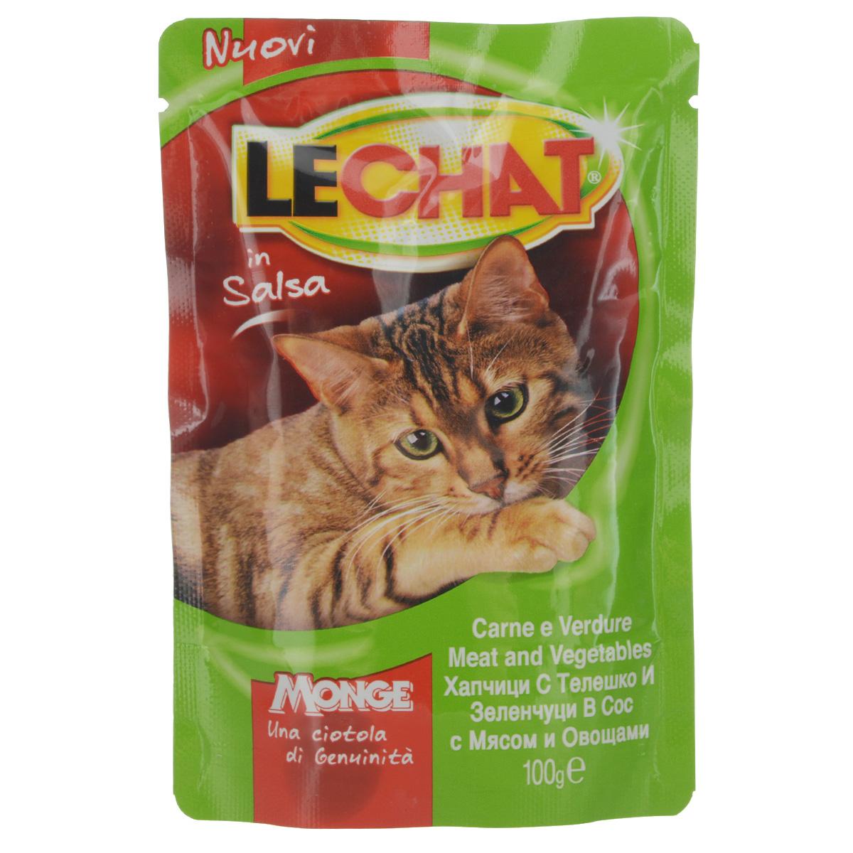 Консервы Monge Lechat для взрослых кошек, с говядиной и овощами, 100 г0120710Консервы Monge Lechat для взрослых кошек тщательно приготовлены из итальянского мяса. Без добавления консервантов и антиоксидантов. Экологически чистое производство гарантирует высочайшее качество и длительные сроки хранения консервов. Тщательный отбор сырья и содержащийся в нем полный набор витаминов и микроэлементов обеспечивает отличную усвояемость и отсутствие проблем с пищеварением у ваших любимых питомцев.Состав: мясо и мясные субпродукты (мясо мин. 4%), овощи (горох мин.4%), минеральные вещества, витамины.Пищевая ценность: протеин 9%, жир 4%, клетчатка 1%, влага 82%. Витамины: витамин А 2000 МЕ/кг, витамин D3 200 МЕ/кг, витамин Е 5 мг/кг.Товар сертифицирован.