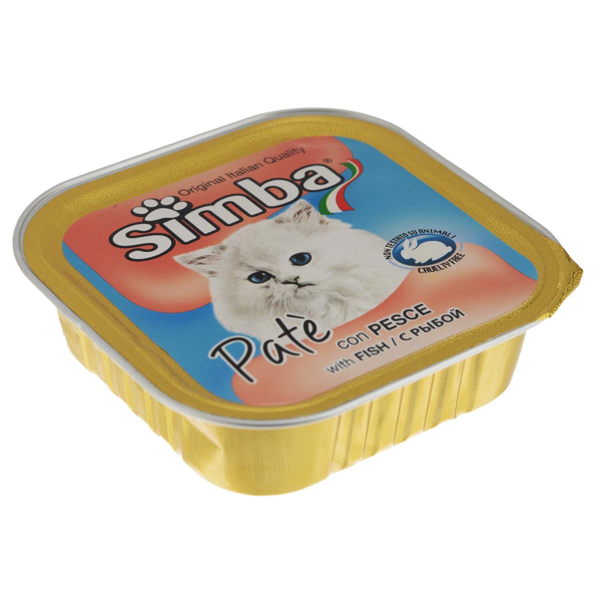 Консервы Monge Simba для взрослых кошек, паштет с рыбой, 100 г0120710Консервы Monge Simba - полнорационный корм для взрослых кошек. Без добавления консервантов и антиоксидантов. Экологически чистое производство гарантирует высочайшее качество и длительные сроки хранения консервов. Тщательный отбор сырья и содержащийся в нем полный набор витаминов и микроэлементов обеспечивает отличную усвояемость и отсутствие проблем с пищеварением у ваших любимых питомцев. Состав: мясо и мясные субпродукты, рыба и рыбные субпродукты (рыба 5%), каррагенин, минеральные вещества, натуральные красители и вкусовые добавки.Пищевая ценность: протеин 8,0%, жир 7,5%, зола 2,1%, клетчатка 0,4%, влажность 82%. Добавки на кг: витамин А: 1 200; витамин D3: 160; витамин Е: 5 мг/кг.Товар сертифицирован.