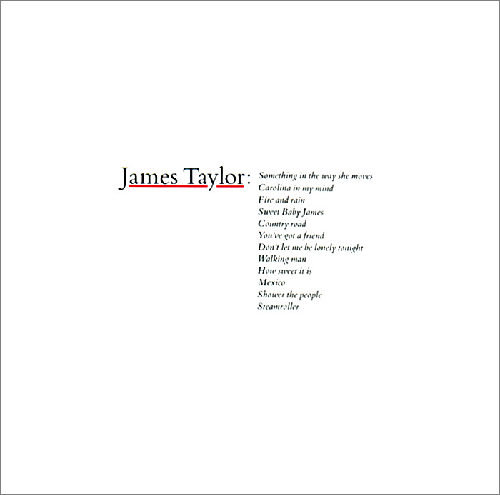 Джеймс Тейлор James Taylor. Greatest Hits fantasy inc prestige records