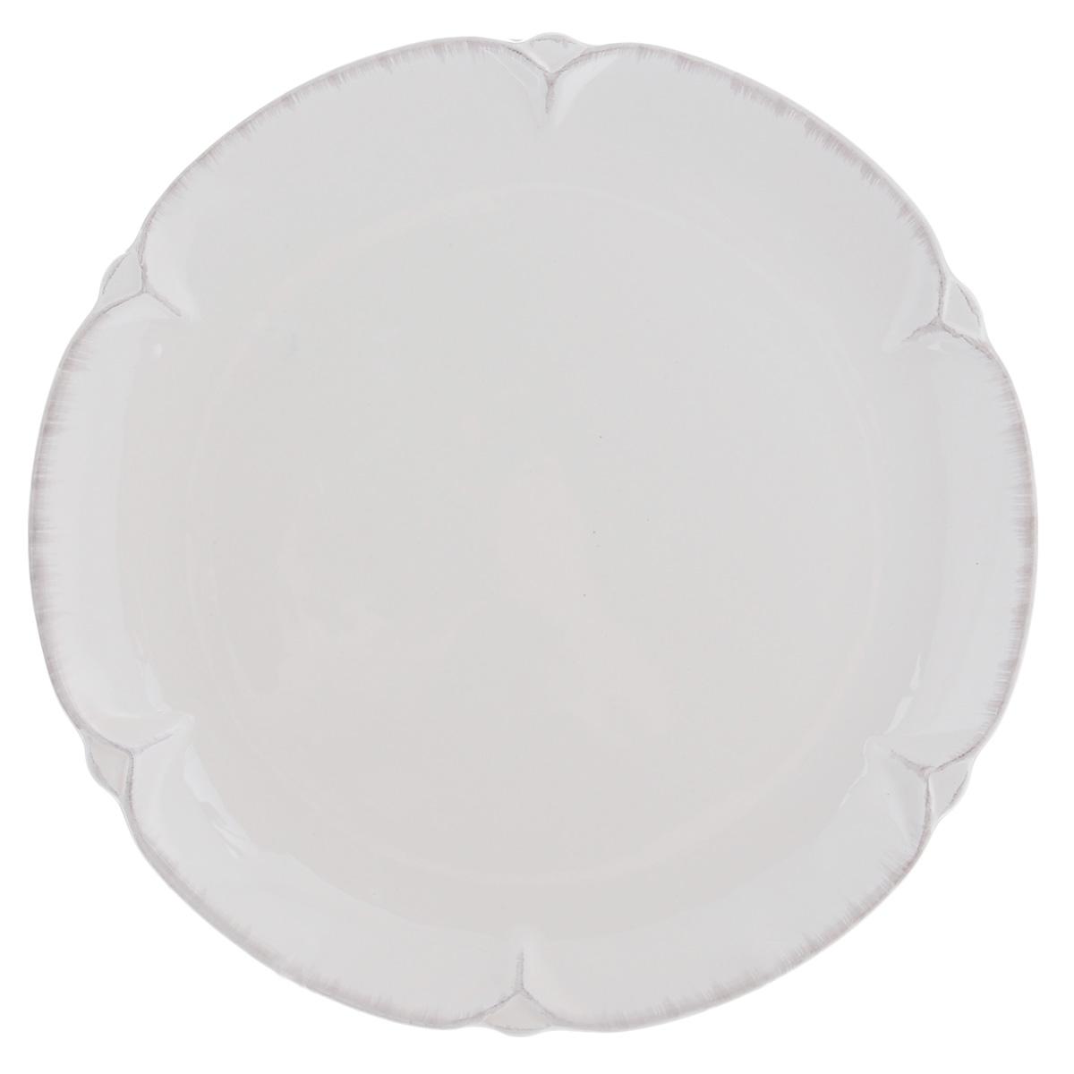 Тарелка Lillo Ideal, цвет: молочный, диаметр 26 см078422Тарелка Lillo Ideal прекрасно подойдет для сервировки вторых блюд. Изделие изготовлено из керамики и оснащено рельефными неровными краями. Такое оформление придется по вкусу и ценителям классики, и тем, кто предпочитает утонченность и изысканность. Тарелка Lillo Ideal украсит сервировку вашего стола и подчеркнет прекрасный вкус хозяина, а также станет отличным подарком. Можно использовать в посудомоечной машине и микроволновой печи. Диаметр тарелки: 26 см.Высота тарелки: 2,5 см.