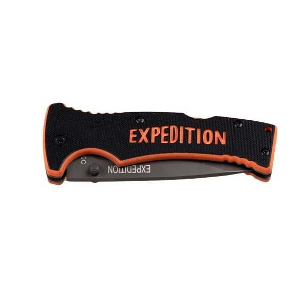 Нож складной Экспедиция Extreme line, с чехломTS FK-860 BK/YСпешите купить складной нож с чехлом Экспедиция Extreme line. Сделанный из нержавеющей стали, этот нож очень удобен в применении. Нейлоновый чехол, который к нему прилагается, очень легкий и прекрасно защитит нож от любых негативных внешних воздействий, что продлит его эксплуатацию на длительное время.