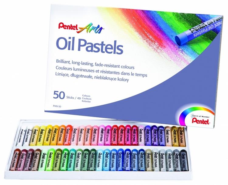 Пастель масляная Pentel Oil Pastels, 50 цветовFS-36054Пастель масляная Pentel Oil Pastels изготовлена из натуральных компонентов и не содержит вредных примесей. Соответствует европейскому стандарту качества EN71, утвержденному для детских товаров.Пастелью можно рисовать в любой технике (в сочетании с цветными карандашами, красками). При работе пастелью лучше использовать шероховатые поверхности - специальные бумаги, картон, холст. Пастель отличают яркие долговечные цвета, стойкие к воздействию света. Для удобства использования краски имеют форму мелков. Длина мелка: 6 см. Количество цветов: 50.