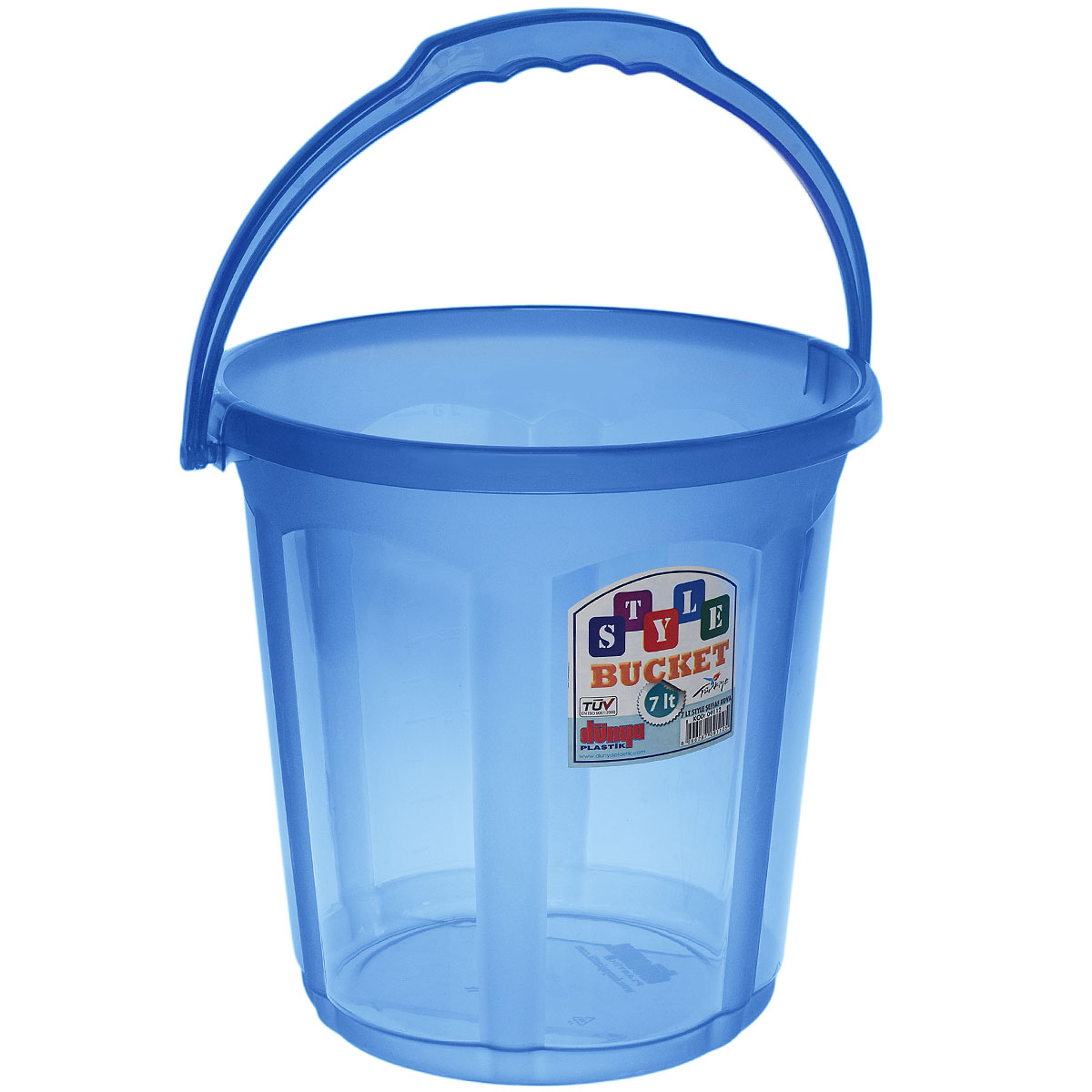Ведро Dunya Plastik Стиль, цвет: синий, 7 л контейнер dunya plastik цвет синий прозрачный 2 20 л
