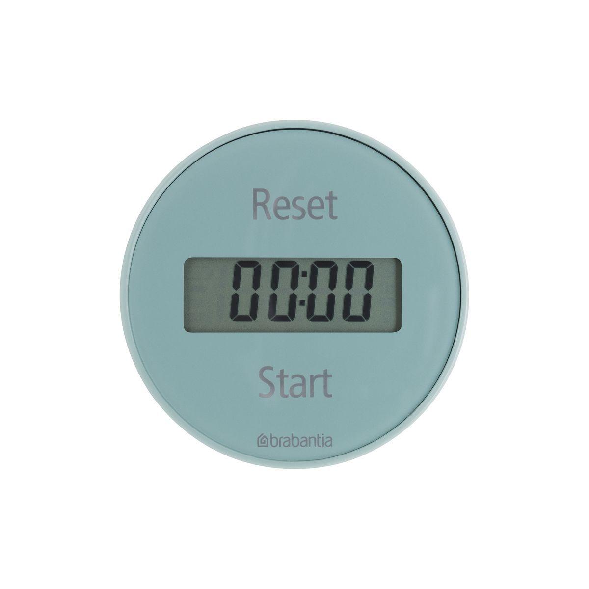 Таймер кухонный Brabantia, цвет: голубой, 99 минутFS-91909Кухонный таймер Brabantia - незаменимый аксессуар для приготовления блюд. Корпус выполнен из высокопрочного пластика ярких цветов. Таймер имеет прямой и обратный отсчет в диапазоне до 99 минут. Установить время очень легко: просто поверните внешнее кольцо прибора и установите время, необходимое для приготовления вашего любимого блюда. Звуковой сигнал известит вас о готовности. Стильный дизайн и качество исполнения сделают таймер Brabantia ярким акцентом в интерьере вашей кухни. Таймер удобно и легко крепится при помощи магнита. Работает от одной батарейки типа CR2032 (входит в комплект). Диаметр корпуса: 7,5 см. Толщина корпуса: 2,2 см.