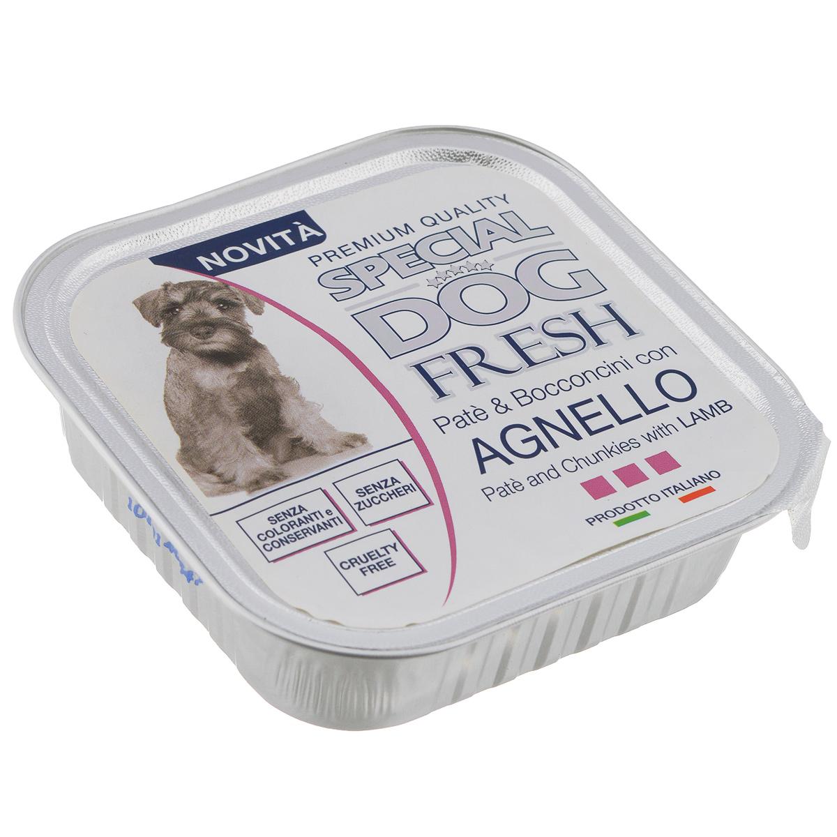 Консервы для собак Monge Special Dog Fresh, с ягненком, 150 г0120710Консервы для собак Monge Special Dog Fresh - это полноценный сбалансированный корм для собак. Паштет из мяса ягненка.Состав: свежее мясо 80% (мин. 10% мяса ягненка), минеральные вещества, витамины. Технологические добавки: загустители и желирующие вещества. В данном продукте нет клейковины.Анализ компонентов: протеин 9%, жир 7%, сырая клетчатка 0,5%, сырая зола 1,2%, влажность 82%.Витамины и добавки на 1 кг: витамин А 2500 МЕ, витамин D3 300 МЕ, витамин Е 7 мг. Товар сертифицирован.