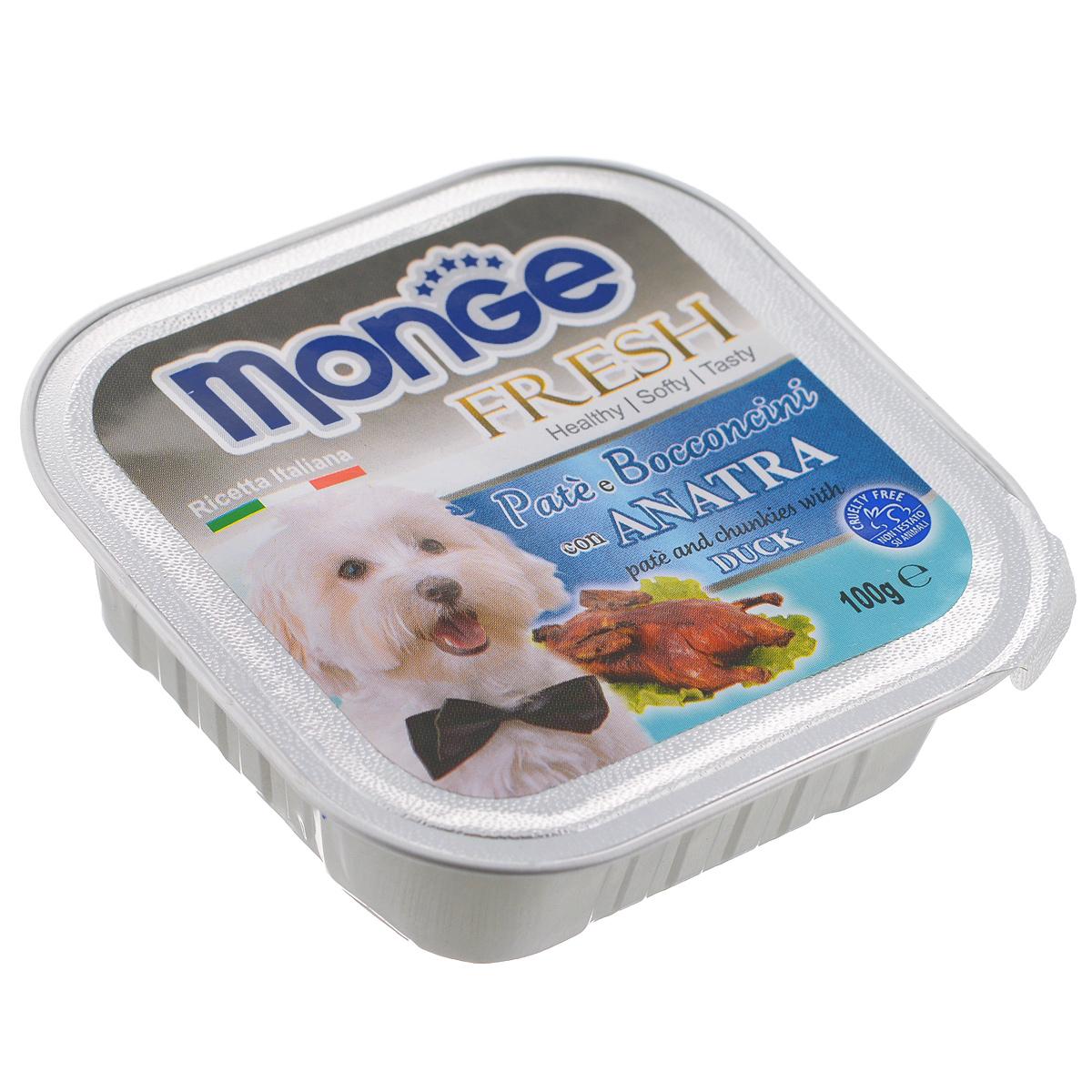Консервы для собак Monge Fresh, с уткой, 100 г12260324Консервы для собак Monge Fresh - это полнорационный корм для собак. Паштет с мясом утки. Состав: свежее мясо 80% (содержание утки мин. 10%), минеральные вещества, витамины. Технологические добавки: загустители и желирующие вещества. Анализ компонентов: белок 9%, жир 7%, сырая клетчатка 0,5%, сырая зола 1,2%, влажность 82%. Витамины и добавки на 1 кг: витамин А 3000МЕ, витамин D3 400 МЕ, витамин Е 15 мг. Товар сертифицирован.