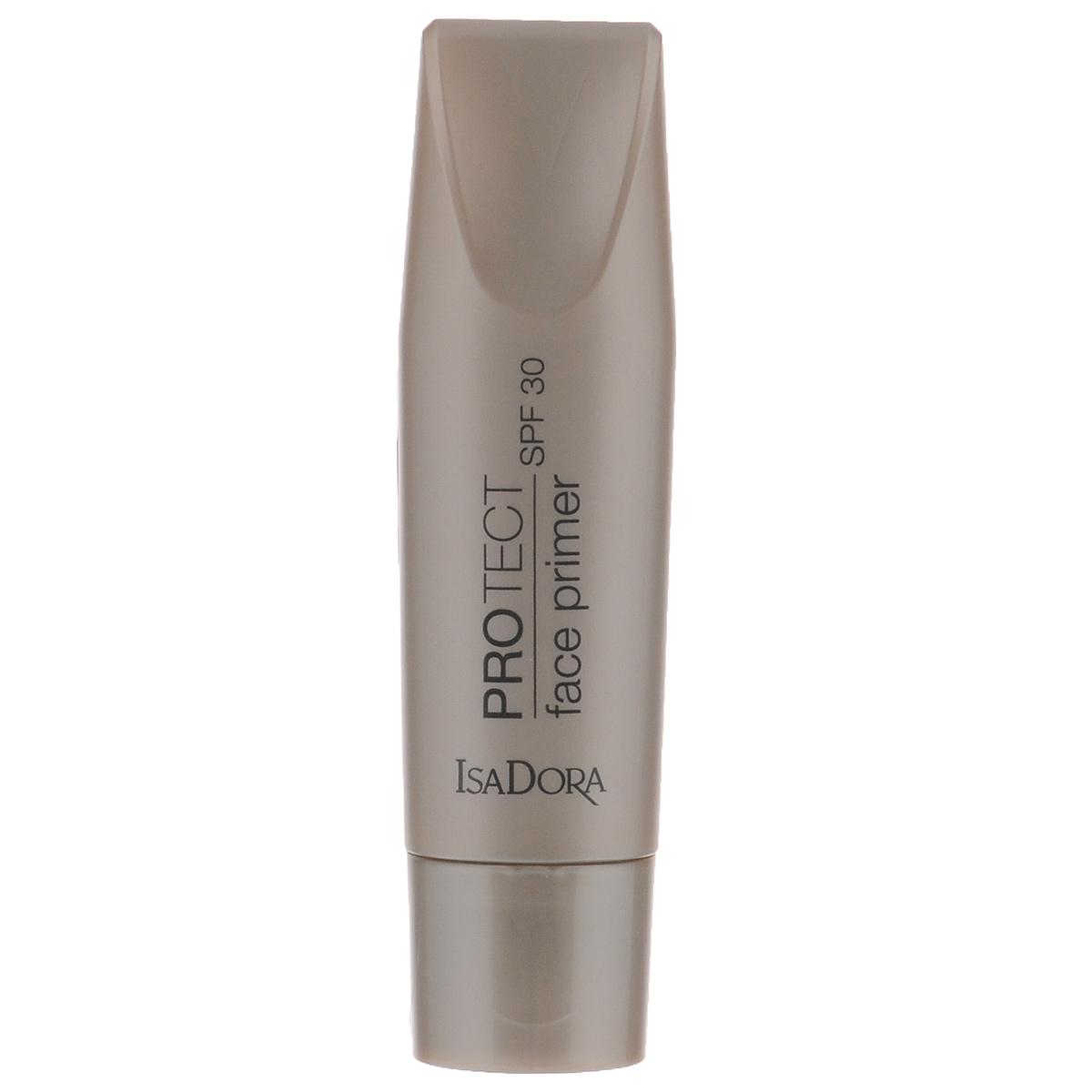 Isa Dora База под макияж ProTect Face Primer, SPF 30, 30 мл5010777139655Идеальная база для устойчивого безупречного макияжа. Эффективная защита от солнечных лучей (SPF 30, спектр UVA и UVB). Уникальные коллагеновые пептиды – сокращают морщины, придают коже упругость. Гелевая текстура без содержания масел – ультралегкая, без ощущения силиконовой пленки. Для всех типов кожи – включая жирную и комбинированную. Товар сертифицирован.