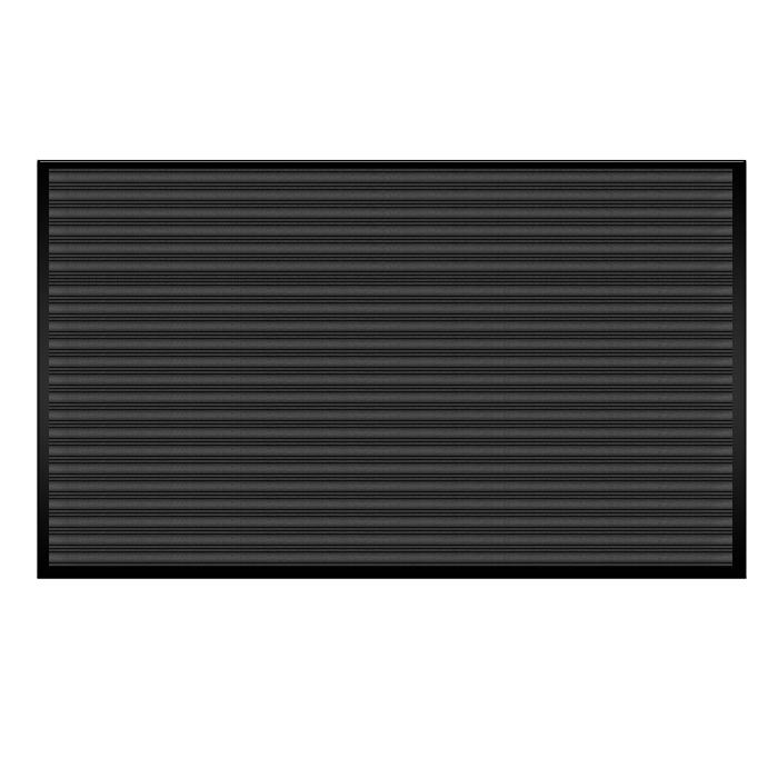 Коврик влаговпитывающий Vortex, ребристый, цвет: черный, 120 х 150 см00007611Влаговпитывающий ребристый коврик Vortex выполнен из ПВХ и полиэстера. Он прост в обслуживании, прочный и устойчивый к различным погодным условиям. Предназначен для использования внутри и снаружи помещения. Лицевая сторона коврика мягкая и ребристая. Прорезиненная основа предотвращает его скольжение по гладкой поверхности и обеспечивает надежную фиксацию. Такой коврик надежно защитит помещение от уличной пыли и грязи.
