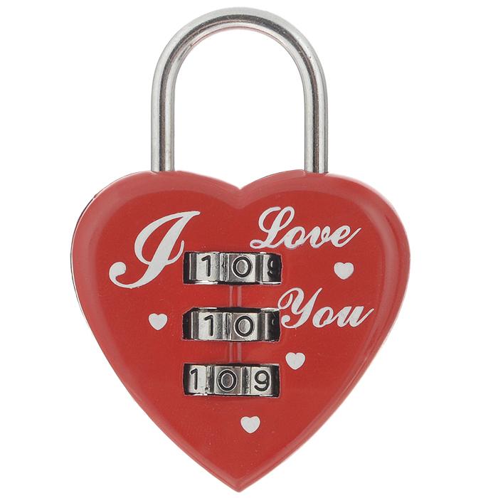Замок для влюбленных Сердце, с кодовым набором, цвет: красный19201Замок для влюбленных Сердце изготовлен из высококачественного металла. Замочек в форме сердца, имеет кодовый замок и украшен гравировкой I Love You. В последнее время развешивание замков стало одной из главных традиций свадебного гулянья, ведь этот замок является символом крепкой любви и дальнейшей долгой совместной жизни. Замок для влюбленных Сердце - прекрасный выбор для создания праздничной атмосферы.