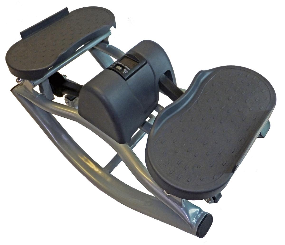 Степпер балансировочный Body Sculpture SE 5106, цвет: черныйKZ 0235Body Sculpture GB-5106/0722-03 - балансировочный министеппер, небольшой аэробный тренажер для дома и офиса (имитация ходьбы по лестнице). Отлично подойдет для тех, кто хочет самостоятельно в домашних условиях поддерживать свою физическую форму в хорошем состоянии. Занимаясь на этом тренажере, любой пользователь сможет тренировать различные группы мышц: бедра, ягодицы, бицепс, трицепс, плечи, спину.Балансировочный министеппер Body Sculpture GB-5106/0722-03 имеет удобный бортовой компьютер, который отслеживает время выполнения упражнения, скорость ходьбы, количество сделанных шагов и количество потраченных калорий. Министеппер Body Sculpture GB-5106/0722-03 - это максимально эффективный и при этом самый компактный и самый миниатюрный тренажер. Он подходит для большинства квартир, не занимает много места, Вы сможете хранить его даже под кроватью.Характеристики:Конструкция проста, надежна и компактна.Бесшумная модель, приводимая в движение переносом центра тяжести с одной ноги на другую.На раме есть специальные металлические петли-держатели для ручек (ручки в комплект не входят).Расширенные платформы для ног дополнены выпуклым рисунком, предотвращающим скольжение.Компьютер в сканирующем режиме отображает:- время,- количество шагов,- частоту шагов в минуту,- расход калорий. Характеристики: Материал: металл, пластик. Вес: 7400 г. Размер тренажера (ДхШхВ): 51 см х 27 см х 27 см. Размер упаковки (ДхШхВ): 51 см х 29 см х 40 см. Изготовитель: Китай. Гарантия: 1 год. Артикул:GB-5106/ SE 5106.