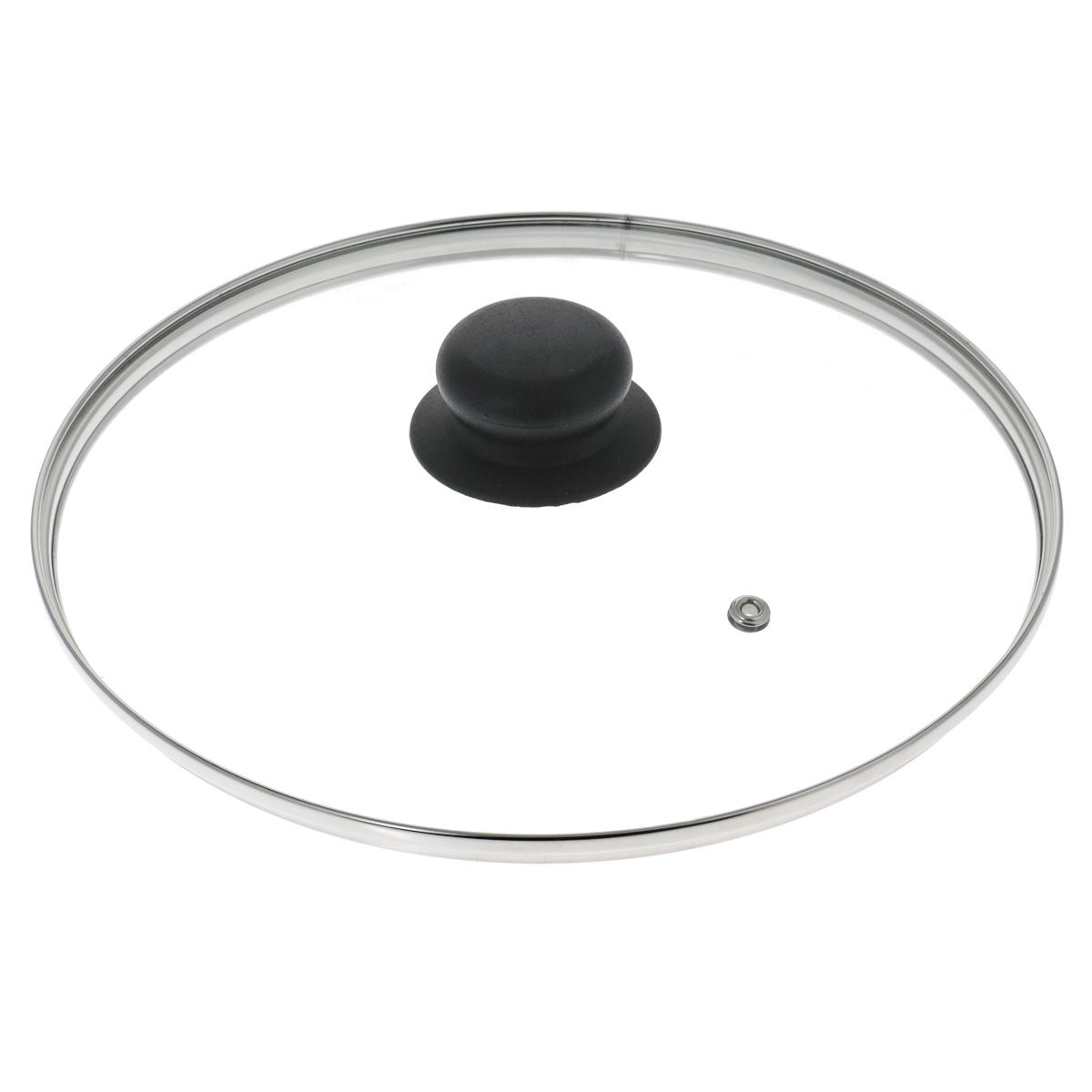 Крышка стеклянная LaraCook. Диаметр 24 смКС*GTL28110 SilkКрышка LaraCook изготовлена из термостойкого стекла. Обод, выполненный из высококачественной нержавеющей стали, защищает крышку от повреждений, а ручка, выполненная из термостойкого пластика, защищает ваши руки от высоких температур. Крышка удобна в использовании, позволяет контролировать процесс приготовления пищи. Имеется отверстие для выпуска пара.