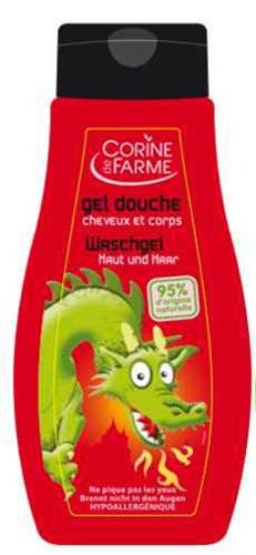 Corine De Farme Гель для душа детский, для тела и волос, с ароматом  Груша , для мальчиков, 250 мл -  Все для купания