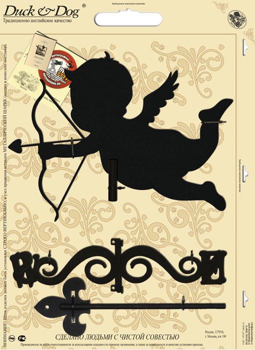 Флюгер малый Duck & Dog Амур, 35 х 68 смБФ.20002Флюгер Duck & Dog Амур изготовлен из сплавов прочных металлов и покрыт специальной порошковой краской, что гарантирует долговечность срока службы. Флюгер поворачивается под воздействием ветра, а также указывает его направление. Такой метеоприбор отличается заметным изяществом. Флюгера - это украшение дома, некий элемент декора. Также их помещают на любые загородные сооружения, бани, беседки и т.д.В комплекте крепежные элементы.Размер фигурной части: 35 см х 25 см.